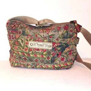 Ex Cond Fabric Fossil Bag